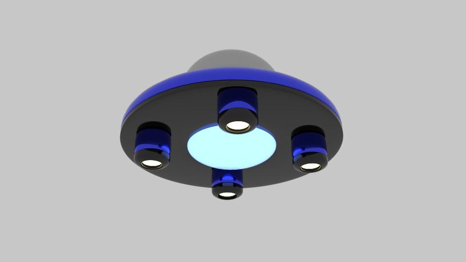 saucer ufo 3d model blend 217579