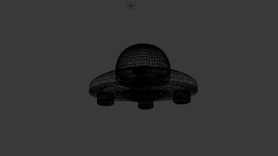 saucer ufo 3d model blend 217583