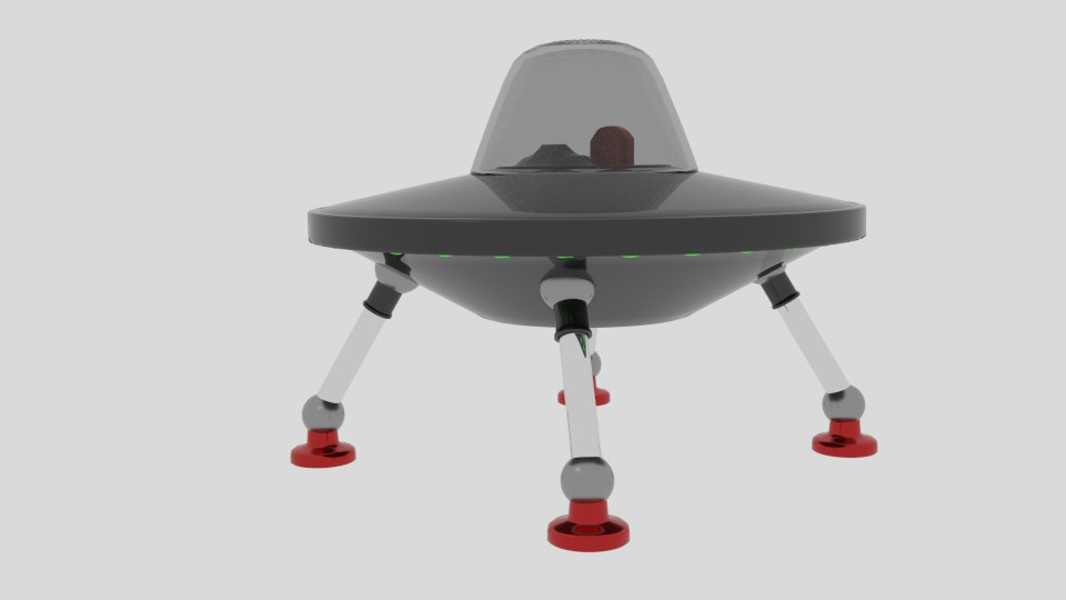stretch ufo 3d model blend 217585