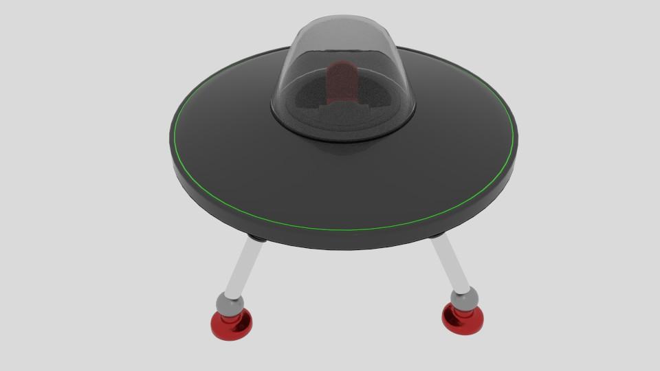 stretch ufo 3d model blend 217586