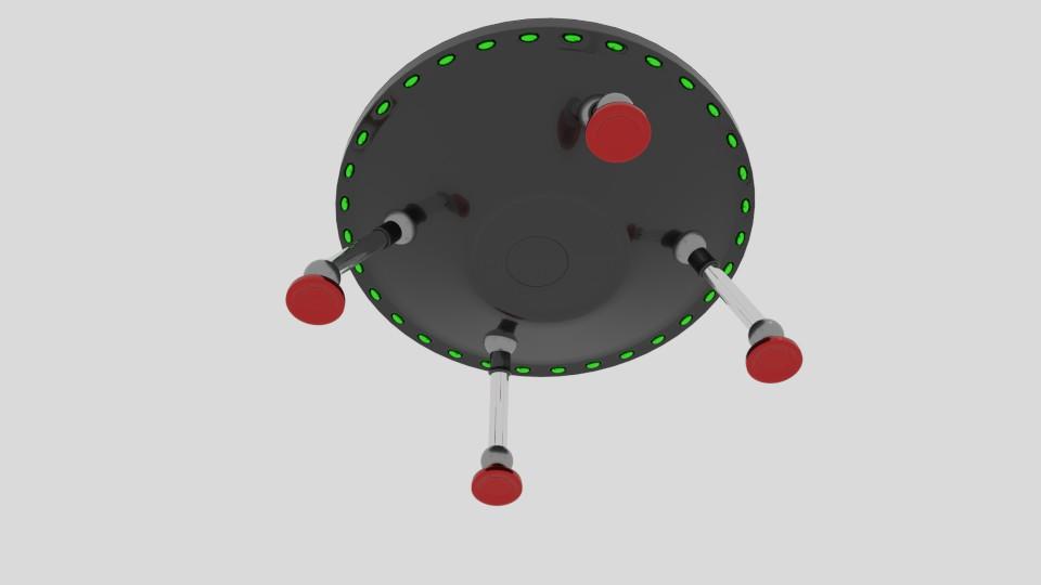 stretch ufo 3d model blend 217587