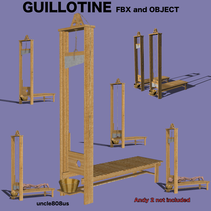 guillotine fbx obj 3d model fbx 217592