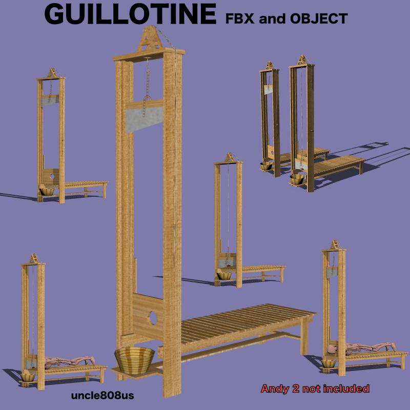 Guillotine Fbx Obj 3d model fbx