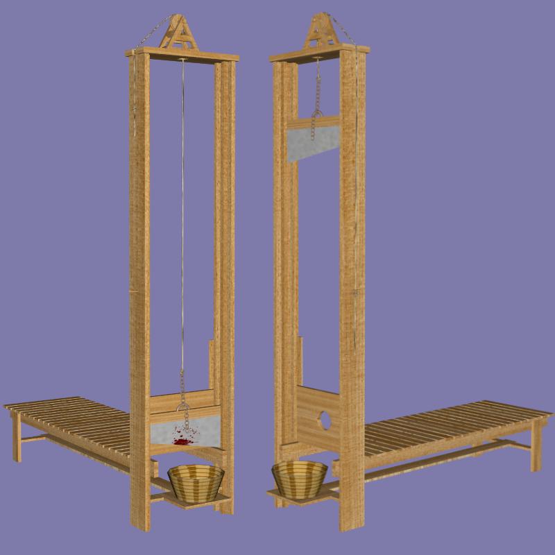 guillotine fbx obj 3d model fbx 217593