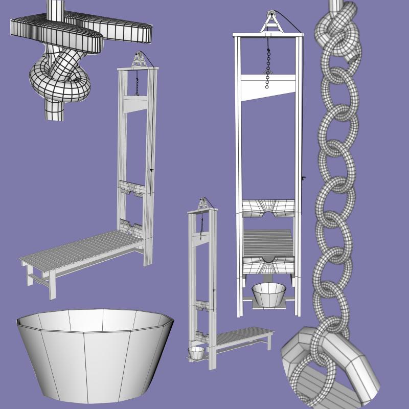 guillotine fbx obj 3d model fbx 217594