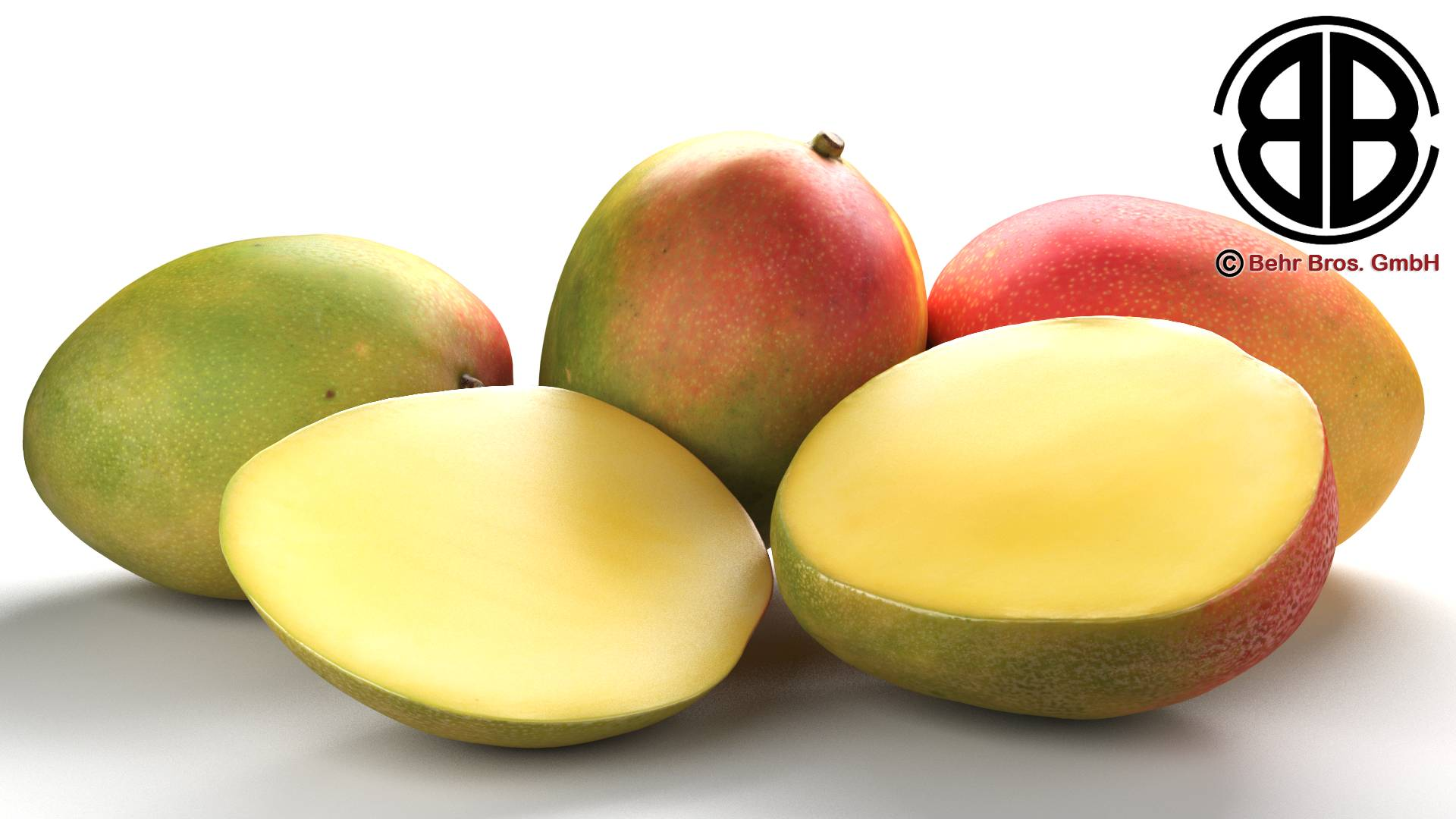 photo realistic mangos 3d model 3ds max fbx c4d lwo ma mb obj 217596