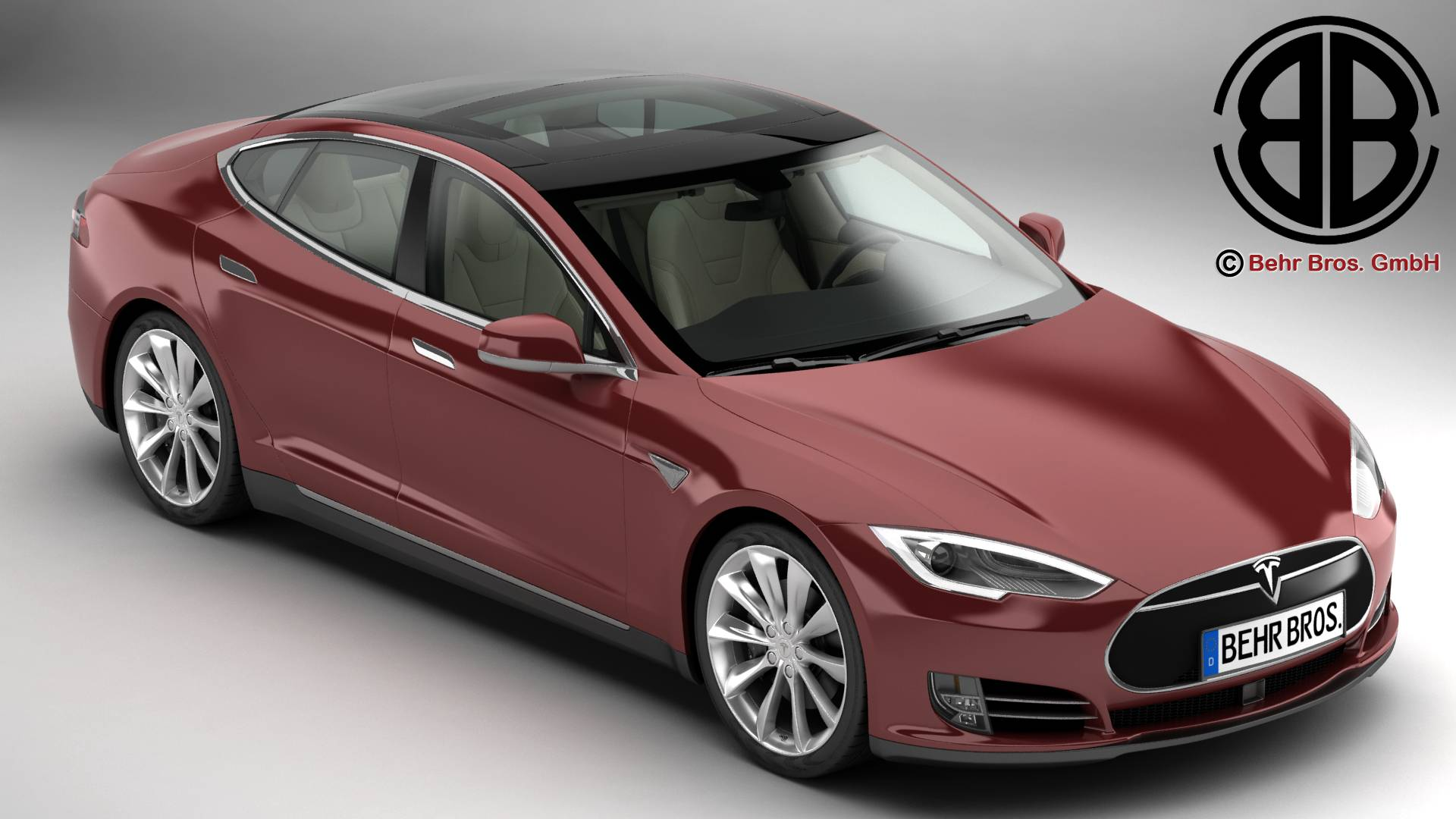 tesla model s 2015 3d model 3ds max fbx c4d lwo ma mb obj 217605