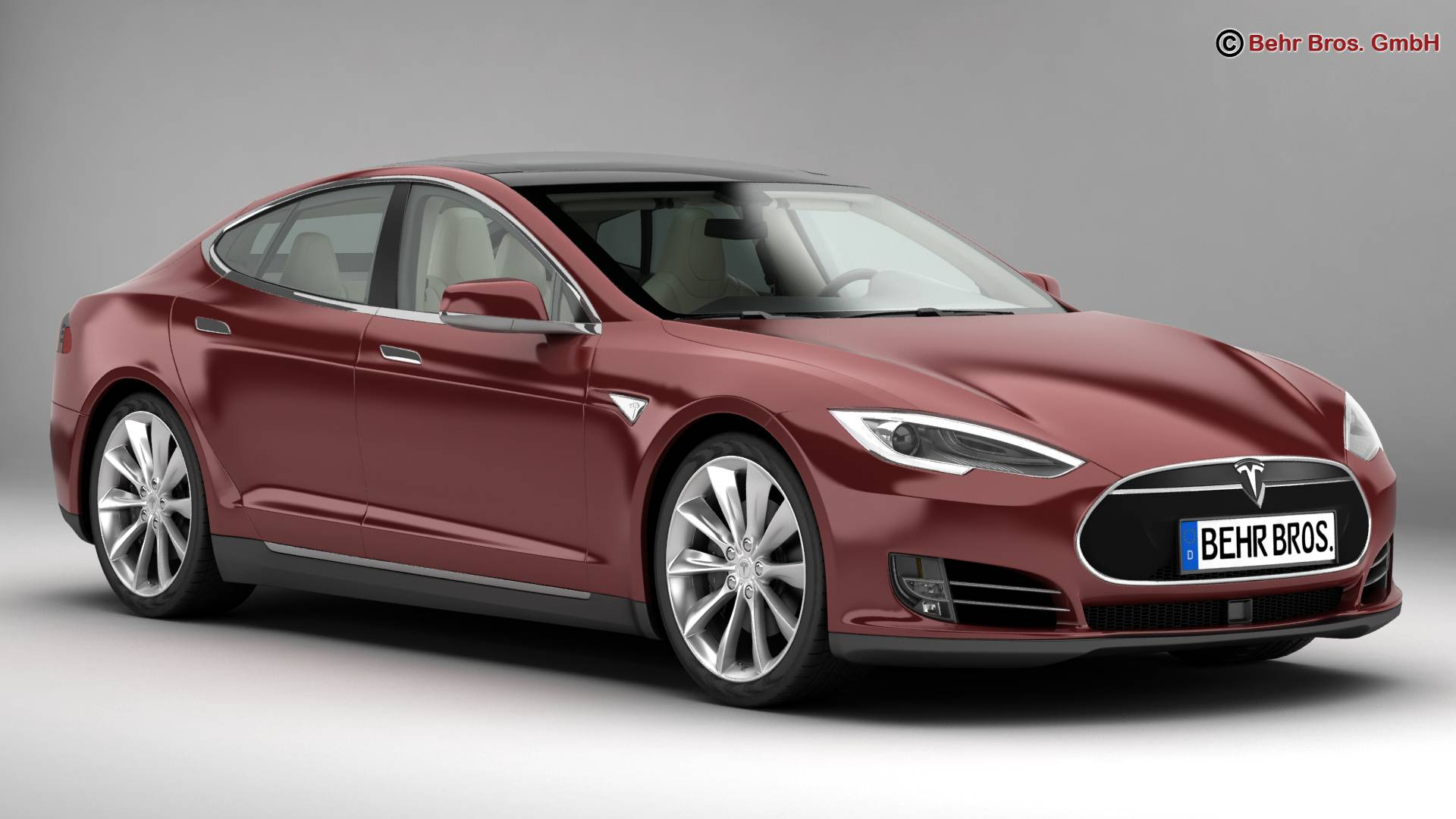tesla model s 2015 3d model 3ds max fbx c4d lwo ma mb obj 217606