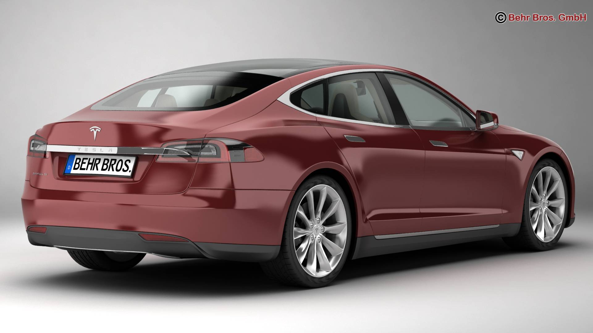 tesla model s 2015 3d model 3ds max fbx c4d lwo ma mb obj 217608