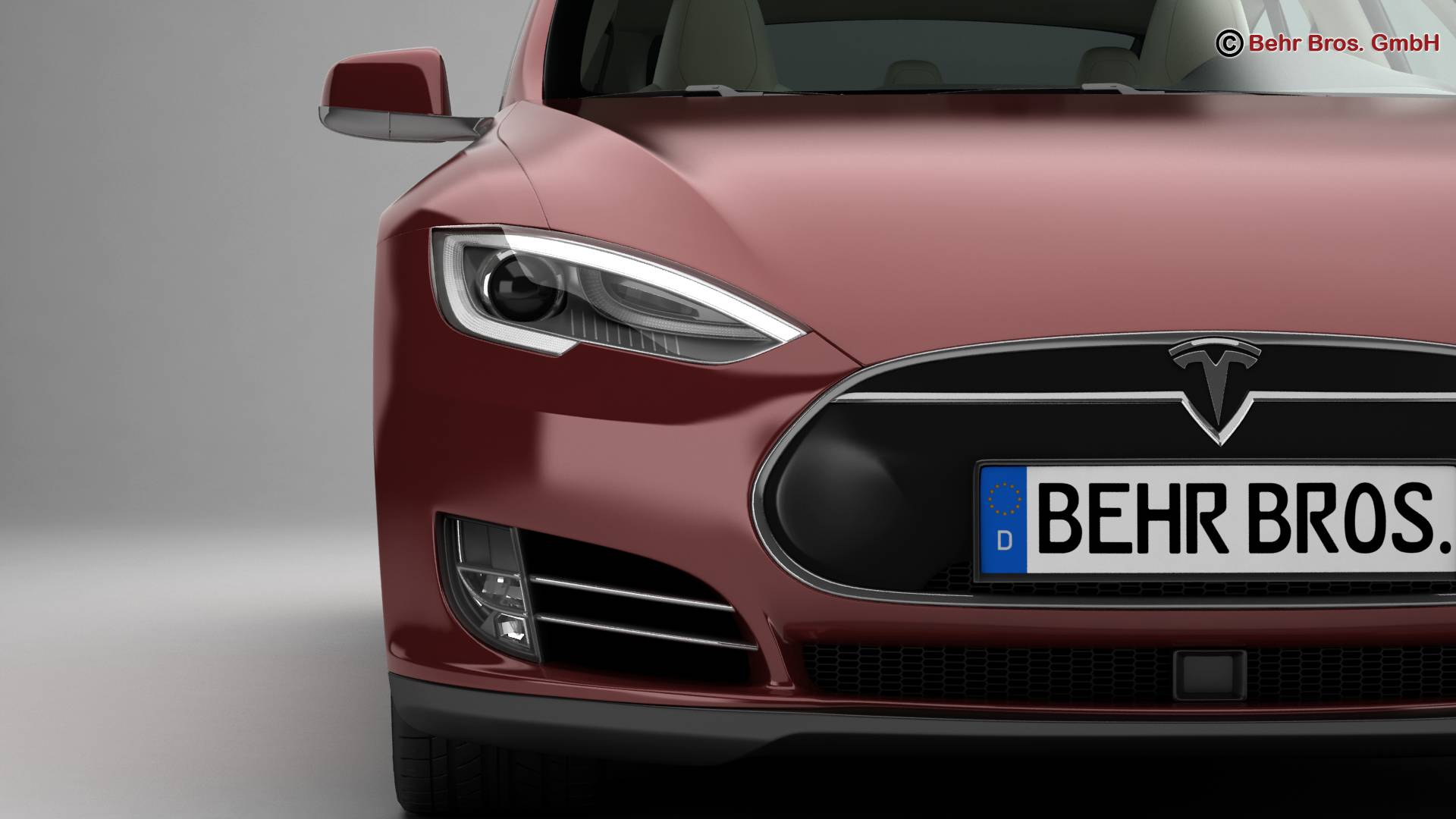 tesla model s 2015 3d model 3ds max fbx c4d lwo ma mb obj 217612