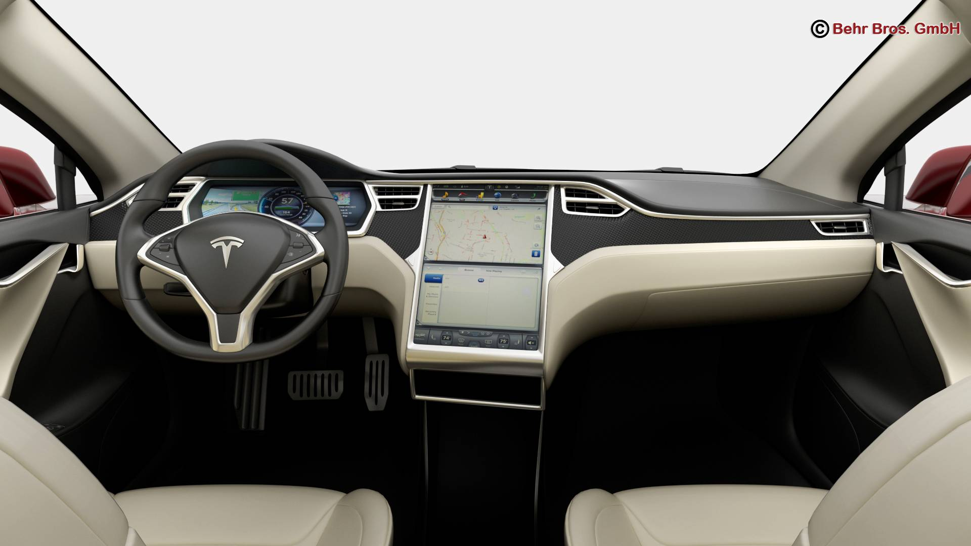 tesla model s 2015 3d model 3ds max fbx c4d lwo ma mb obj 217618