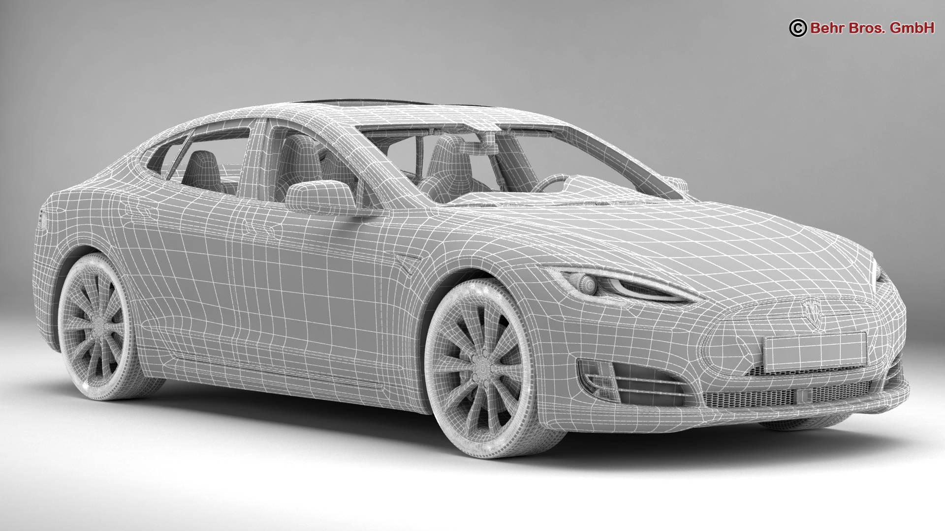 tesla model s 2015 3d model 3ds max fbx c4d lwo ma mb obj 217621