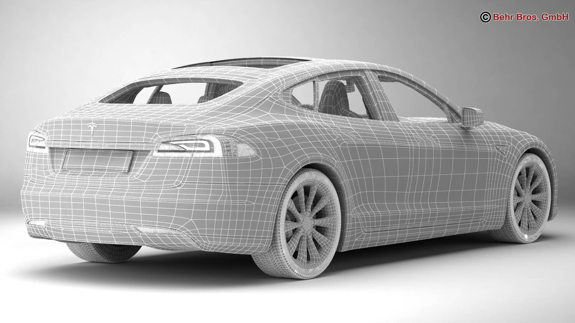 tesla model s 2015 3d model 3ds max fbx c4d lwo ma mb obj 217623