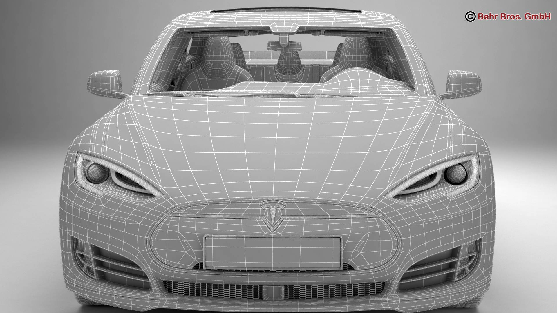 tesla model s 2015 3d model 3ds max fbx c4d lwo ma mb obj 217626