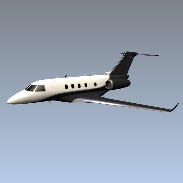 embraer legacy 450 business jet 3d model 3ds fbx blend dae lwo obj 217645