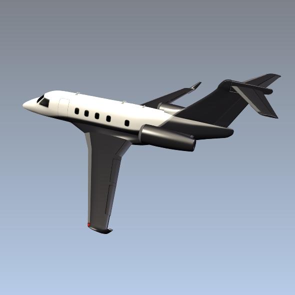 embraer legacy 450 business jet 3d model 3ds fbx blend dae lwo obj 217646
