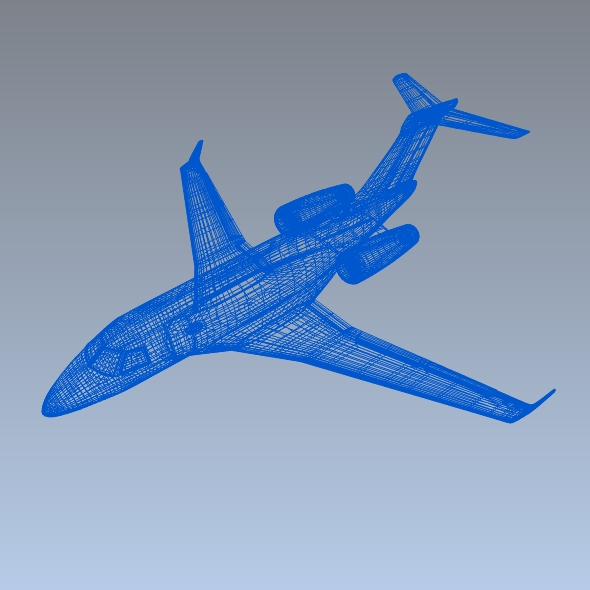 embraer legacy 450 business jet 3d model 3ds fbx blend dae lwo obj 217647