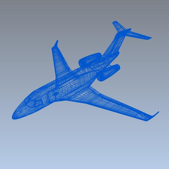 Embraer Legacy 450 business jet ( 125.61KB jpg by futurex3d )