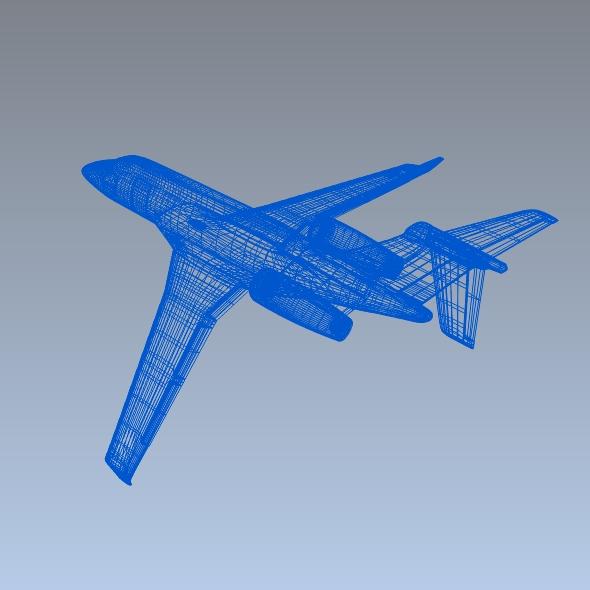 embraer legacy 450 business jet 3d model 3ds fbx blend dae lwo obj 217648