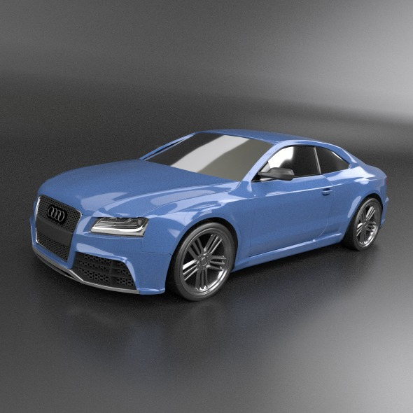 audi rs5 2011 redesigned 3d model fbx blend dae lwo obj 217651