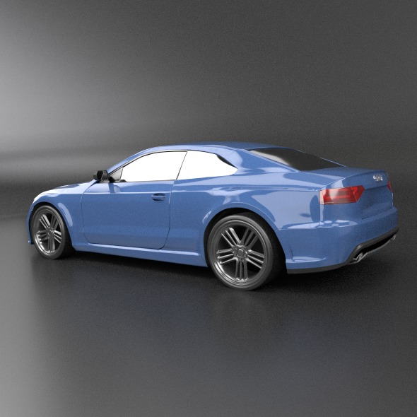 audi rs5 2011 redesigned 3d model fbx blend dae lwo obj 217652
