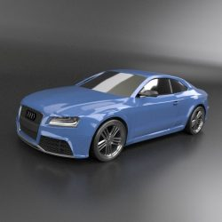 Audi rs5 2011 redesigned 3d model fbx blend dae lwo lws lw obj
