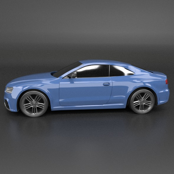 audi rs5 2011 redesigned 3d model fbx blend dae lwo obj 217653