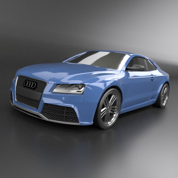 audi rs5 2011 redesigned 3d model fbx blend dae lwo obj 217654