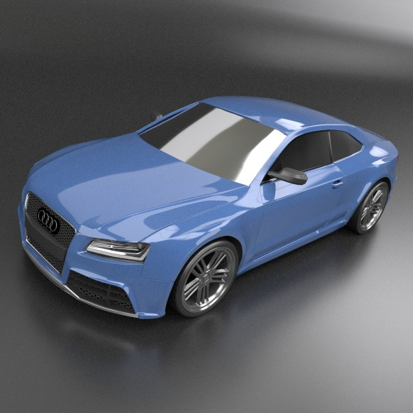 audi rs5 2011 redesigned 3d model fbx blend dae lwo obj 217655