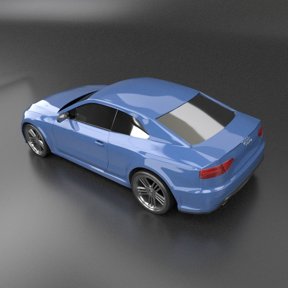 audi rs5 2011 redesigned 3d model fbx blend dae lwo obj 217656