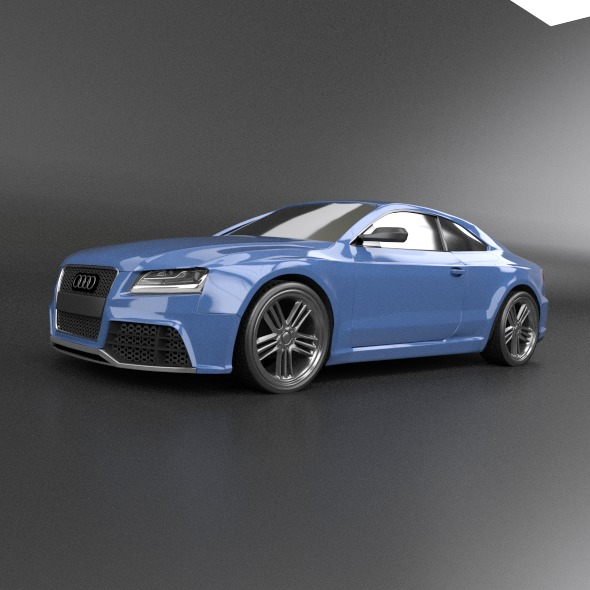 audi rs5 2011 redesigned 3d model fbx blend dae lwo obj 217657