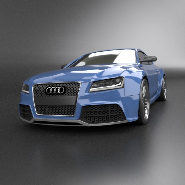 audi rs5 2011 redesigned 3d model fbx blend dae lwo obj 217658
