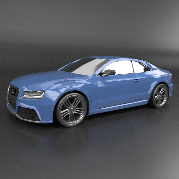 audi rs5 2011 redesigned 3d model fbx blend dae lwo obj 217659