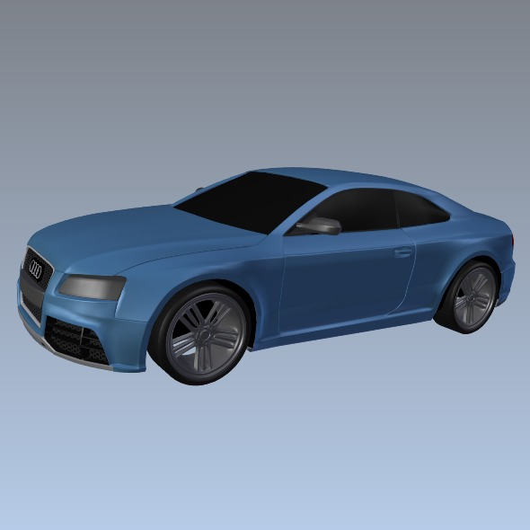audi rs5 2011 redesigned 3d model fbx blend dae lwo obj 217660