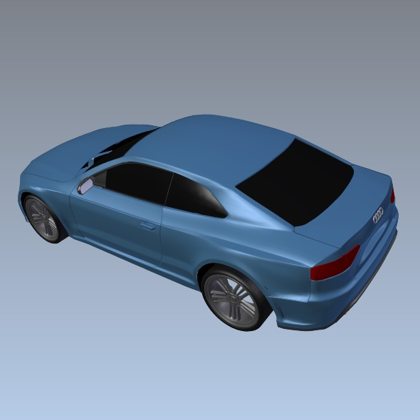 audi rs5 2011 redesigned 3d model fbx blend dae lwo obj 217661