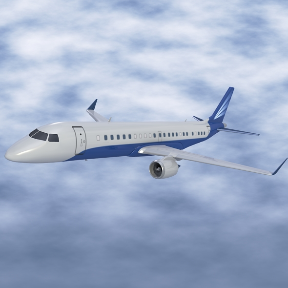 embraer lineage 1000 executive jet 3d model 3ds fbx blend dae lwo obj 217665