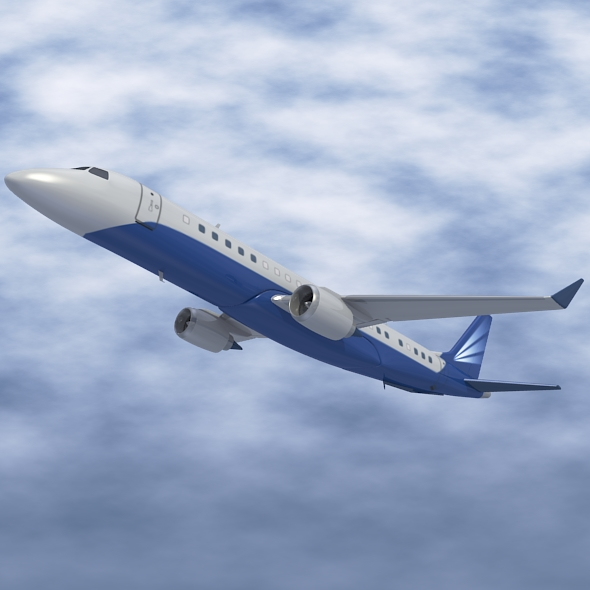 embraer lineage 1000 executive jet 3d model 3ds fbx blend dae lwo obj 217667