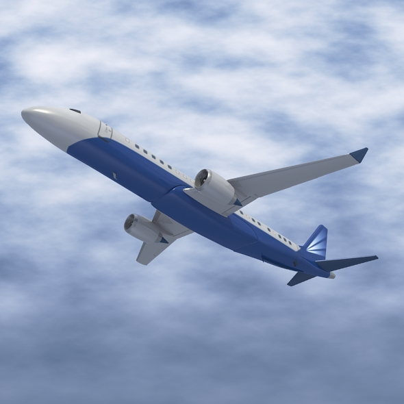 embraer lineage 1000 executive jet 3d model 3ds fbx blend dae lwo obj 217669