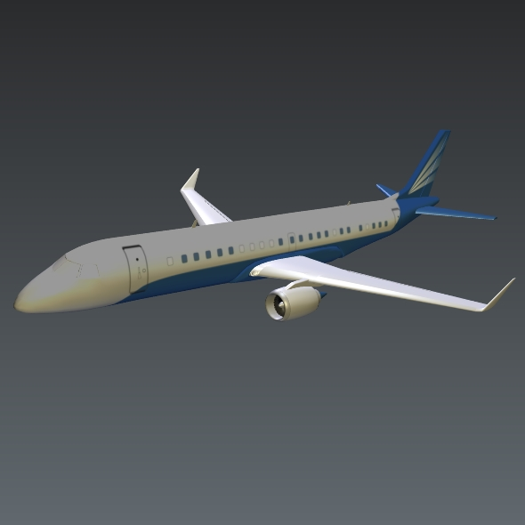 embraer lineage 1000 executive jet 3d model 3ds fbx blend dae lwo obj 217672