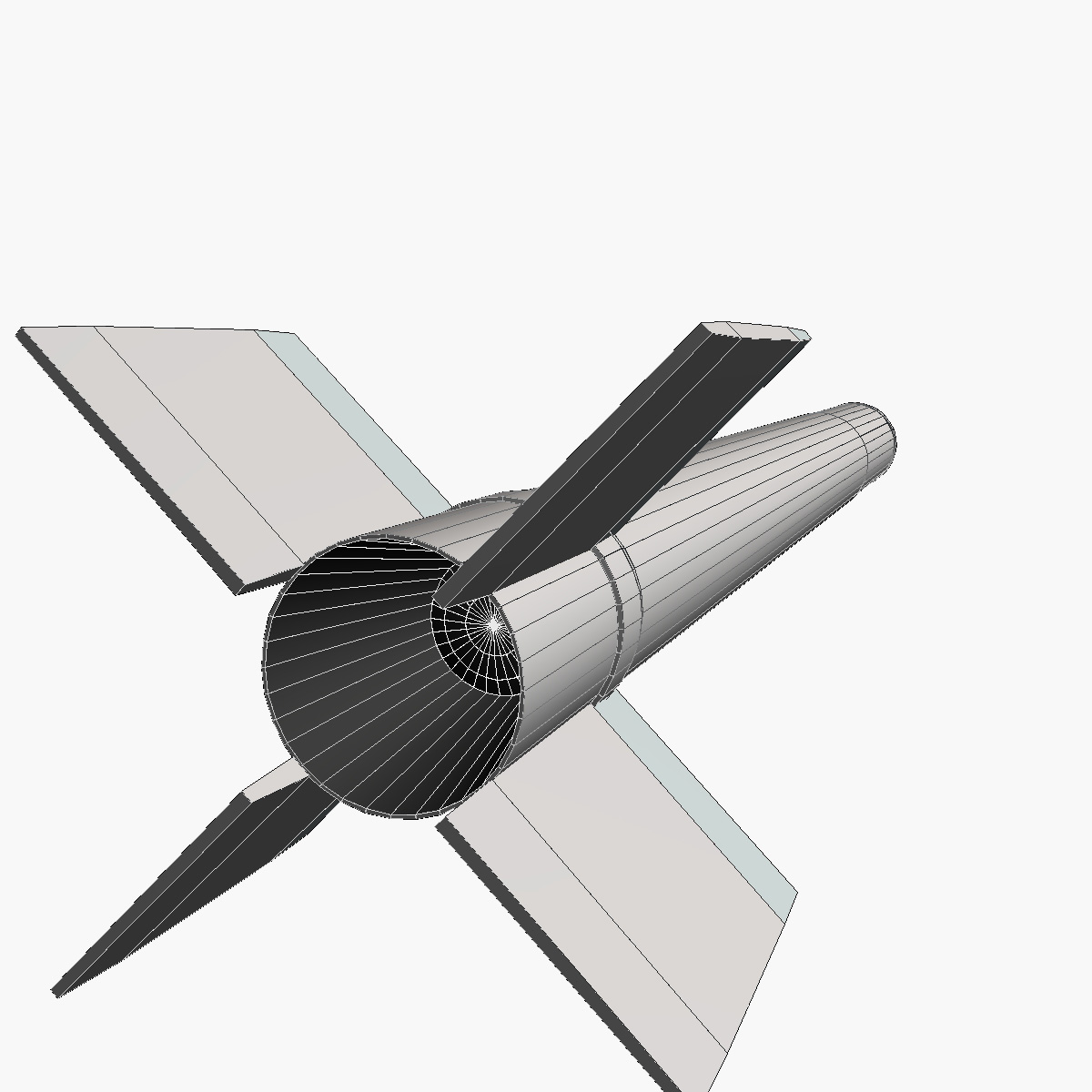 canopus ii rocket 3d model 3ds dxf fbx blend cob dae x obj 217724