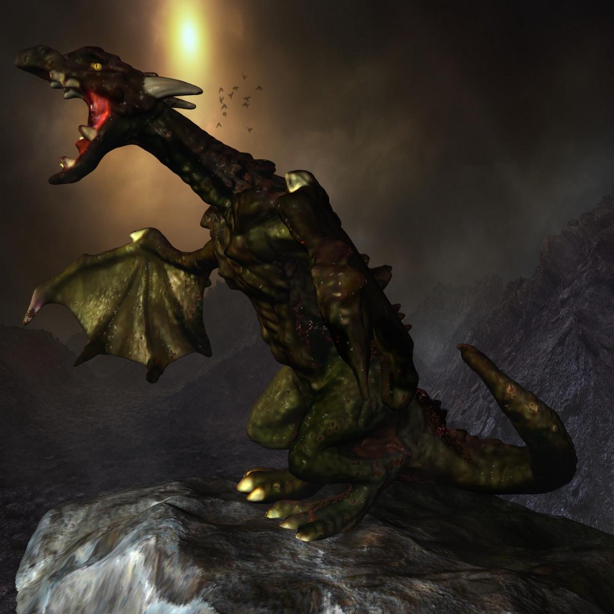 highly detailed dragon 3d model max fbx  obj 217731