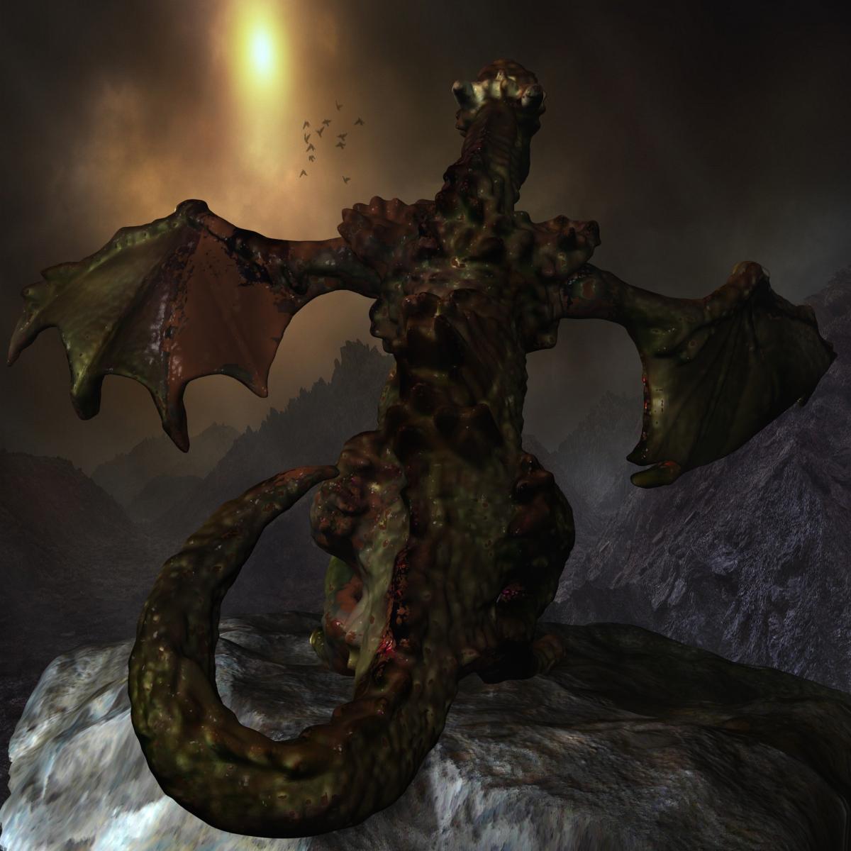 highly detailed dragon 3d model max fbx  obj 217732