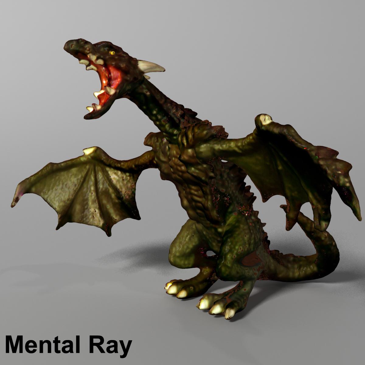 highly detailed dragon 3d model max fbx  obj 217733