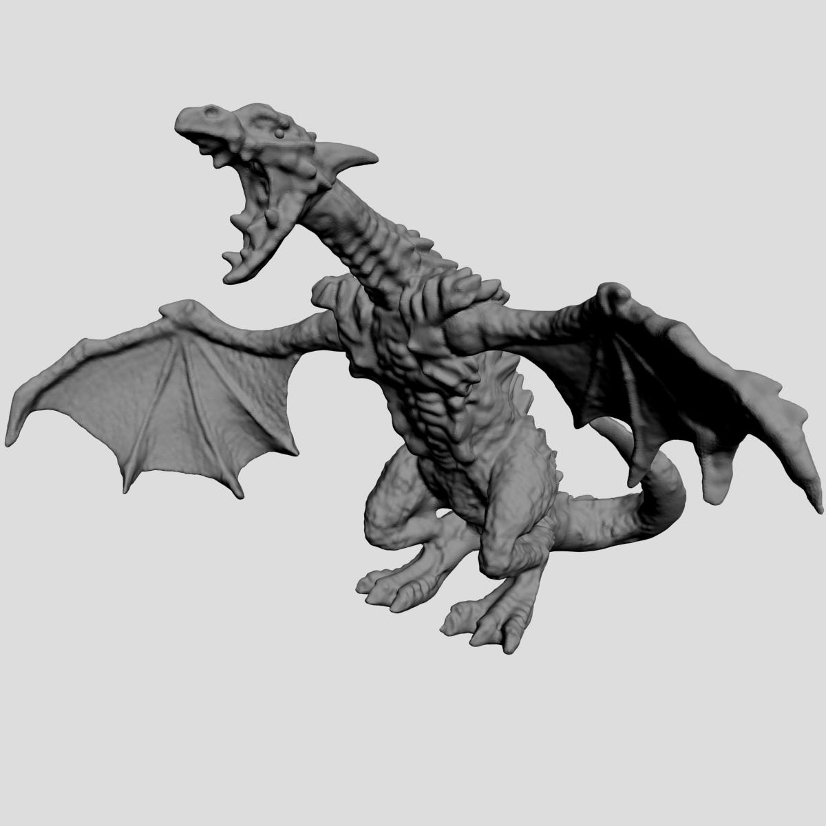 highly detailed dragon 3d model max fbx  obj 217734