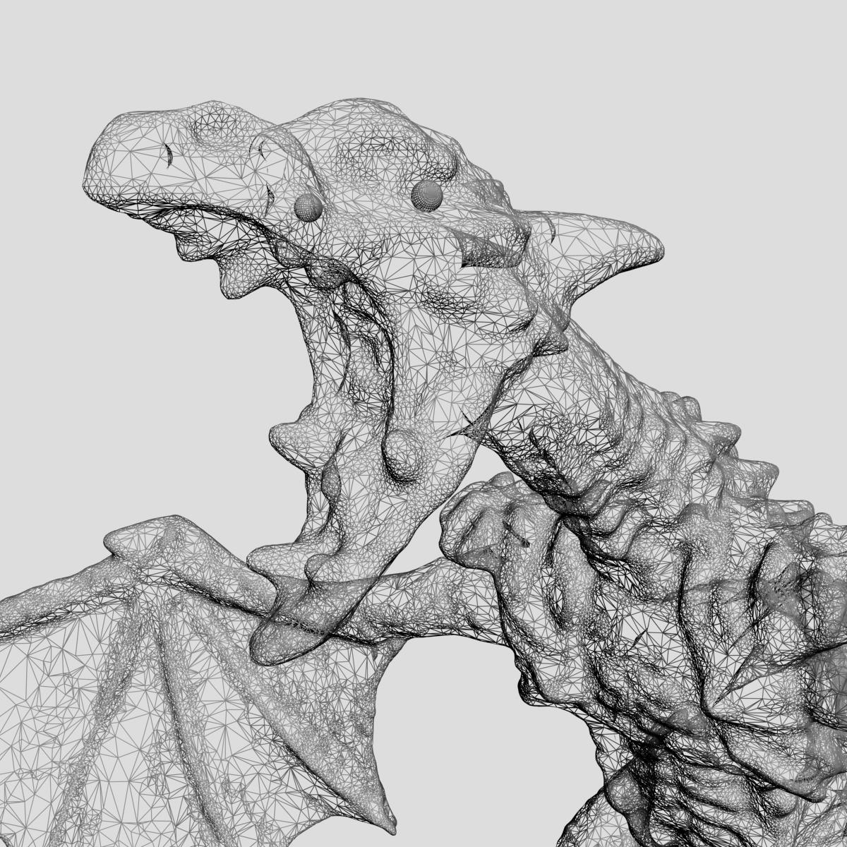 highly detailed dragon 3d model max fbx  obj 217735