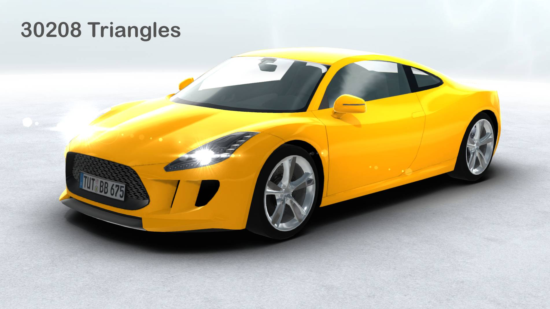 generic sports car realtime 3d model 3ds max fbx c4d lwo ma mb other obj 217742