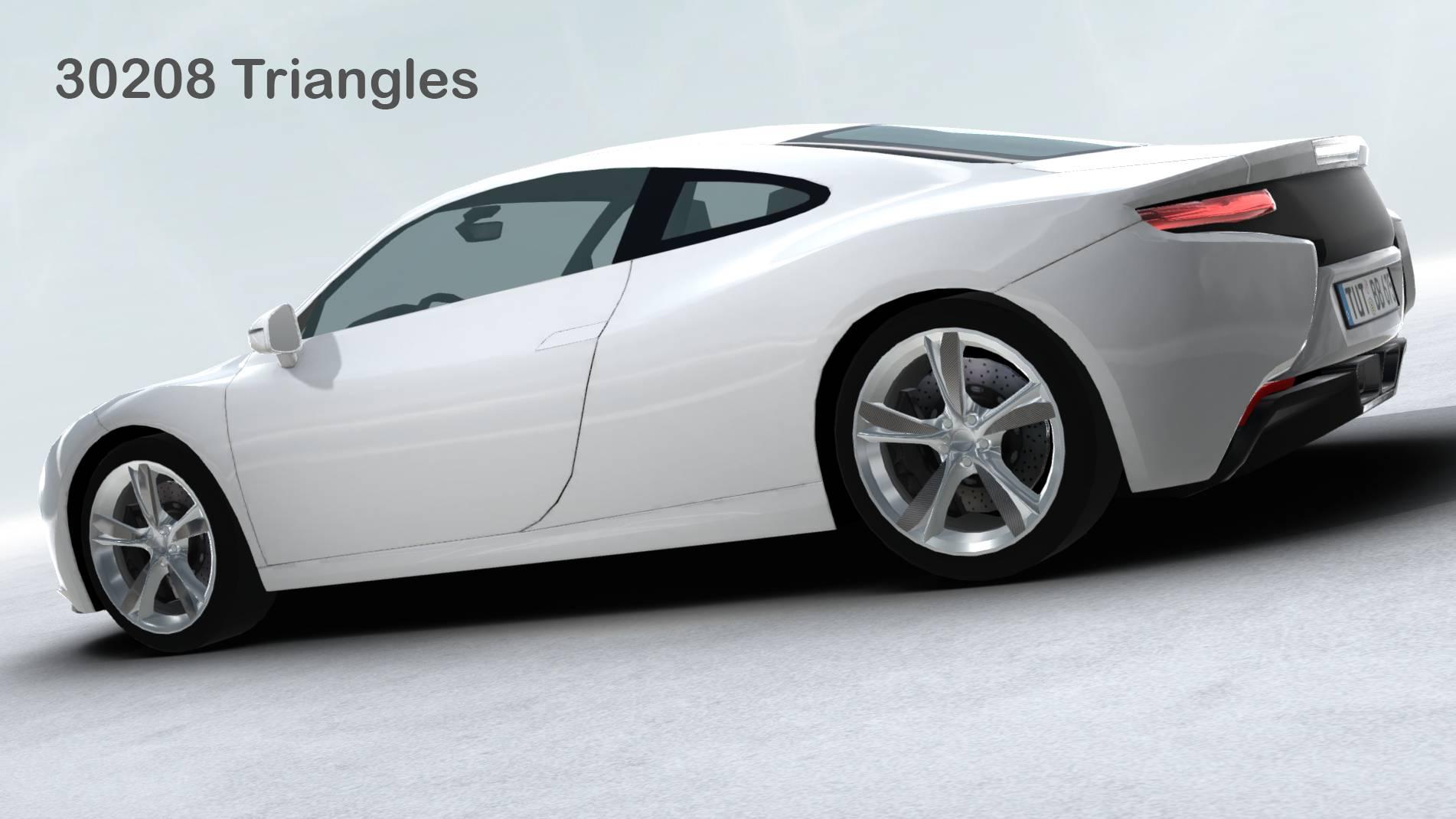 generic sports car realtime 3d model 3ds max fbx c4d lwo ma mb other obj 217743