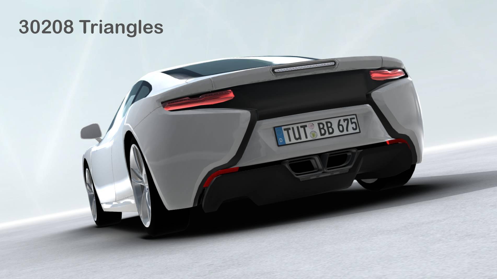 generic sports car realtime 3d model 3ds max fbx c4d lwo ma mb other obj 217744