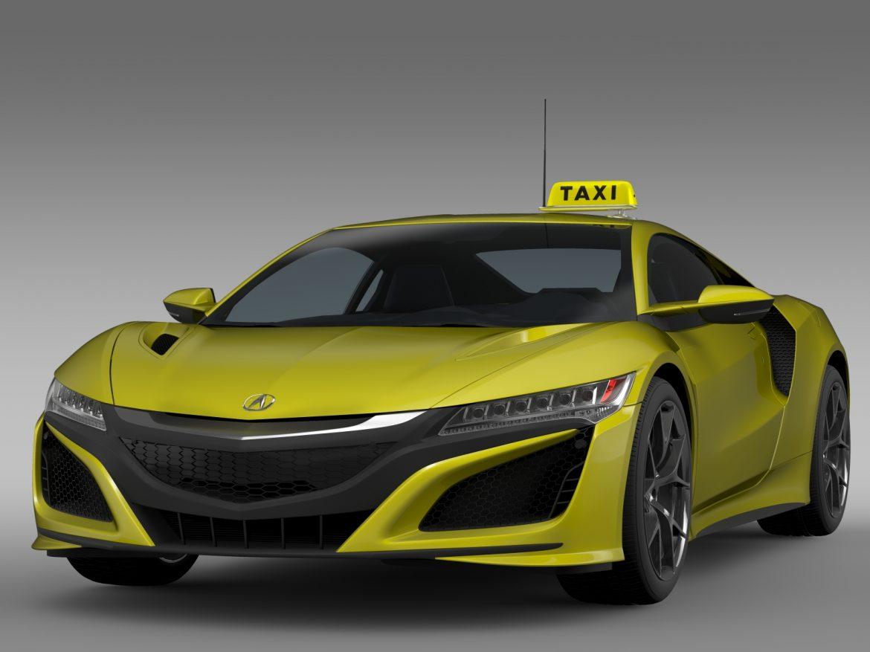 acura nsx taxi 2016 3d model 3ds fbx c4d lwo ma mb hrc xsi obj 217750