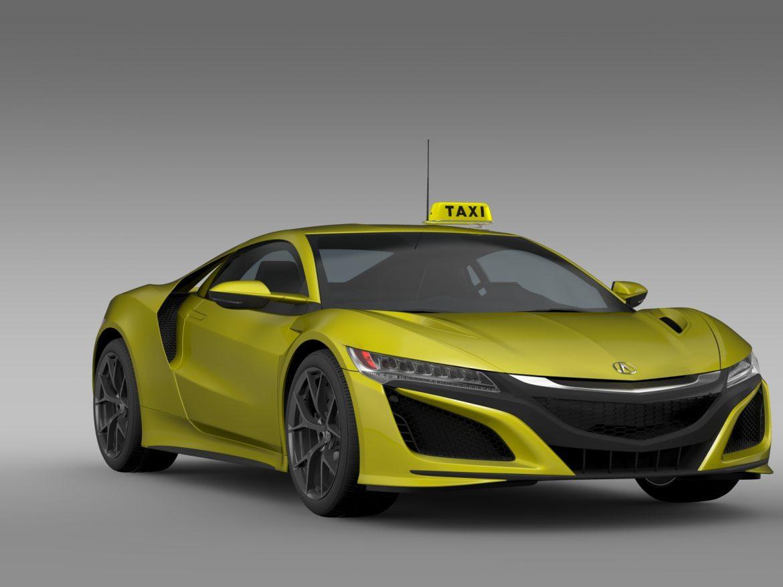 acura nsx taxi 2016 3d model 3ds fbx c4d lwo ma mb hrc xsi obj 217751